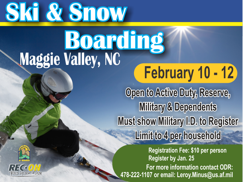 Ski & Snow Boarding, Last day to Register 25 @ ODR - Outdoor Adventure