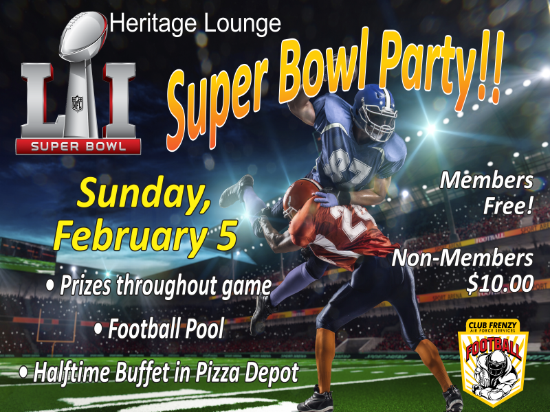 Super Bowl Party @ Heritage Lounge