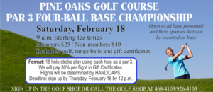 Par 3 Four Ball Base Championship hosted by Pine Oaks Golf Course