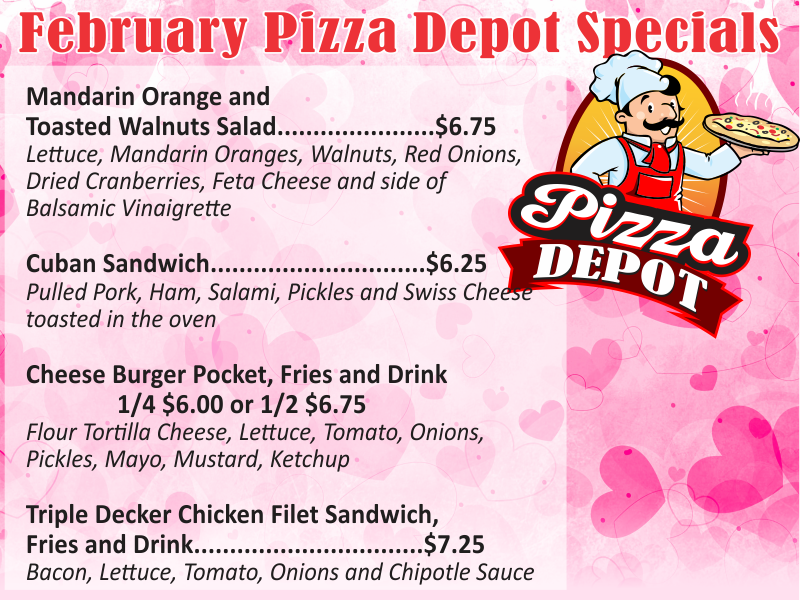 Pizza Depot February Special