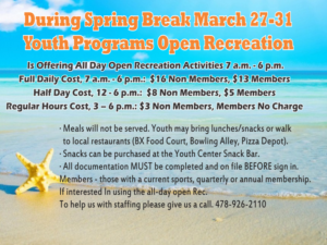 Spring Break Youth Programs Open Rec