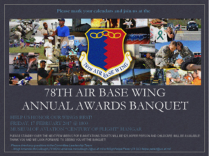 78th Air Base Wing Annual Awards Banquet