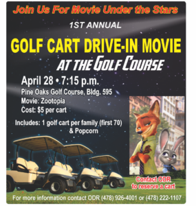 Golf Cart Drive-In Movie
