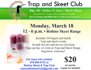 Trap & Skeet Club March Event