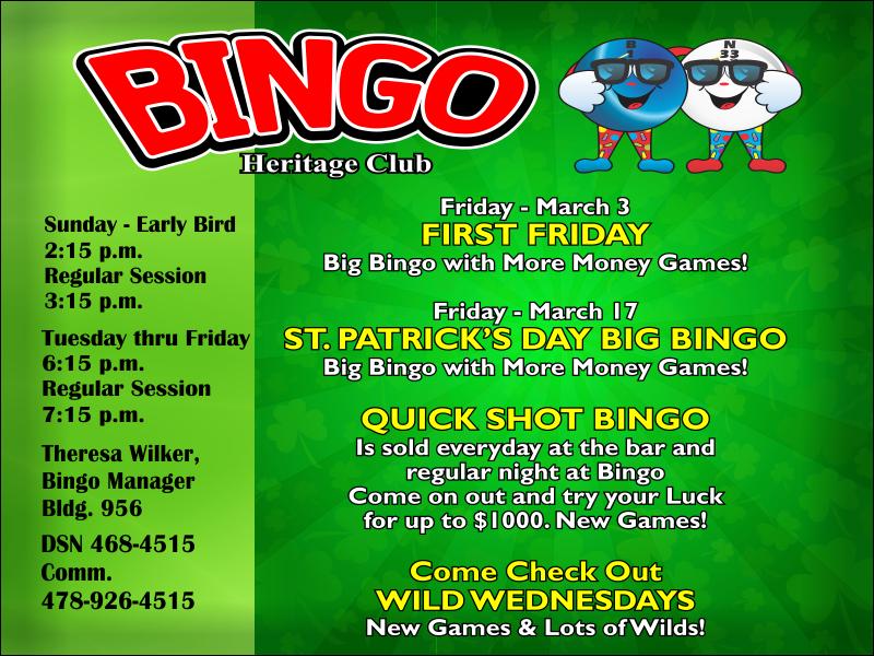 Bingo March Events