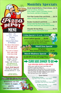 Pizza Depot March Specials