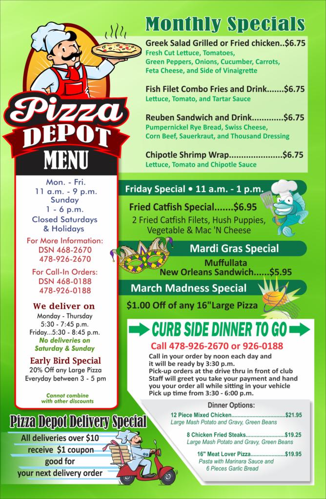 Pizza Depot March Specials
