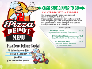 Curbside Dinner TO-GO at Pizza Depot