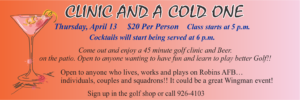 Golf Course Clinic and a Cold one