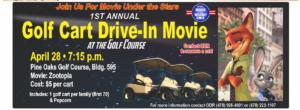 Golf Cart Drive-In Movie