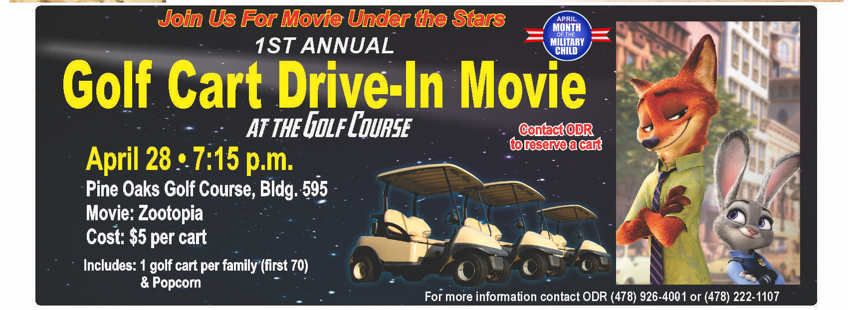 Golf Cart Drive-In at the Golf Course @ Golf Course