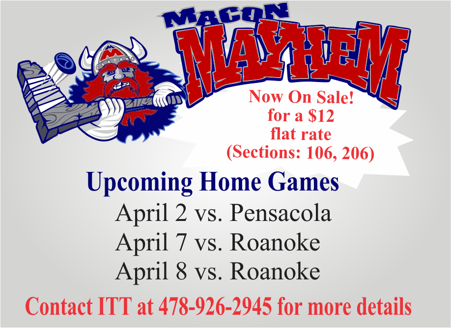Macon Mayhem April Tickets available