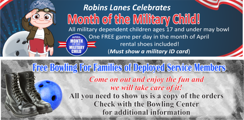 Bowling's Month Of the Military Child April Specials