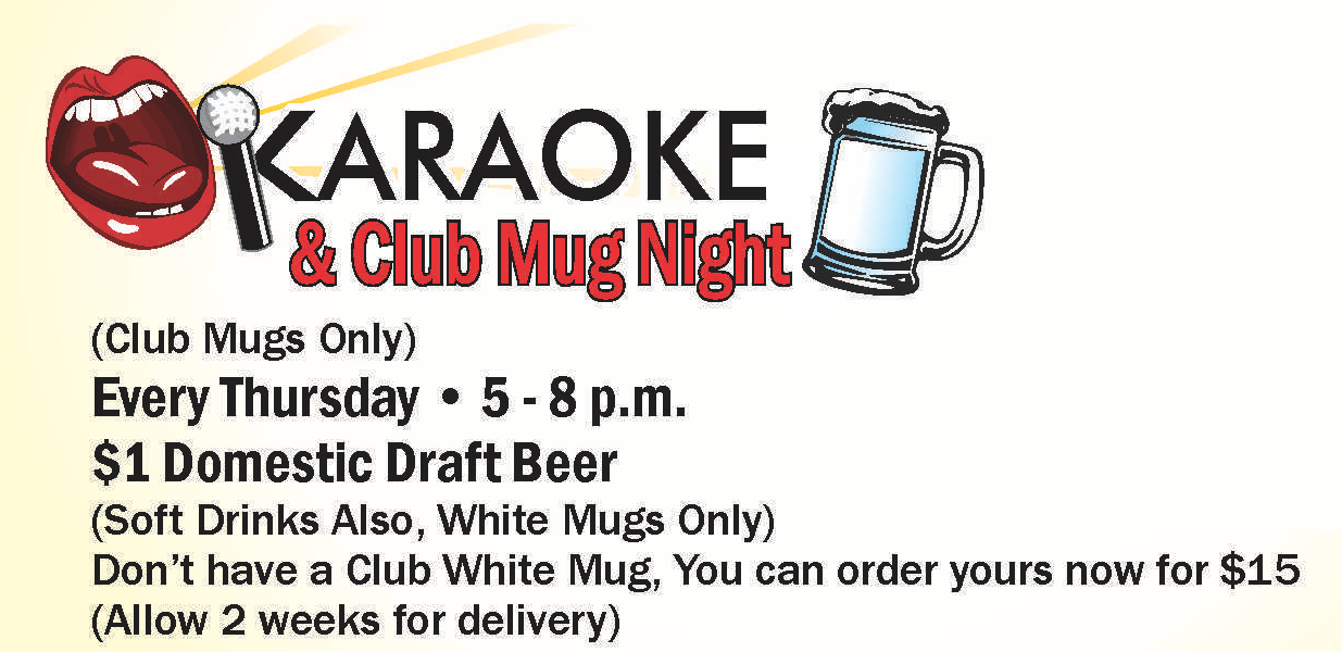 Karaoke & Club Mug Night @ Heritage Lounge