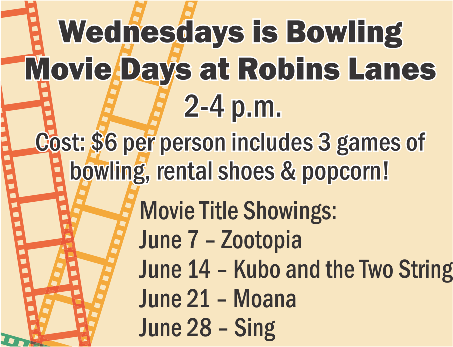 Bowling Movie Days at the Bowling Center
