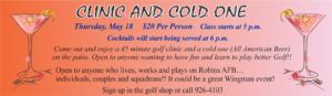 Clinic and Cold One at Pine Oaks Golf Course