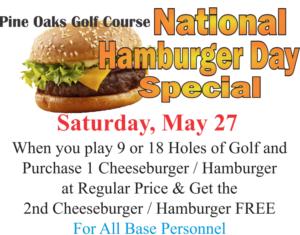 Natinal Hamburger Day Special at the Golf Course