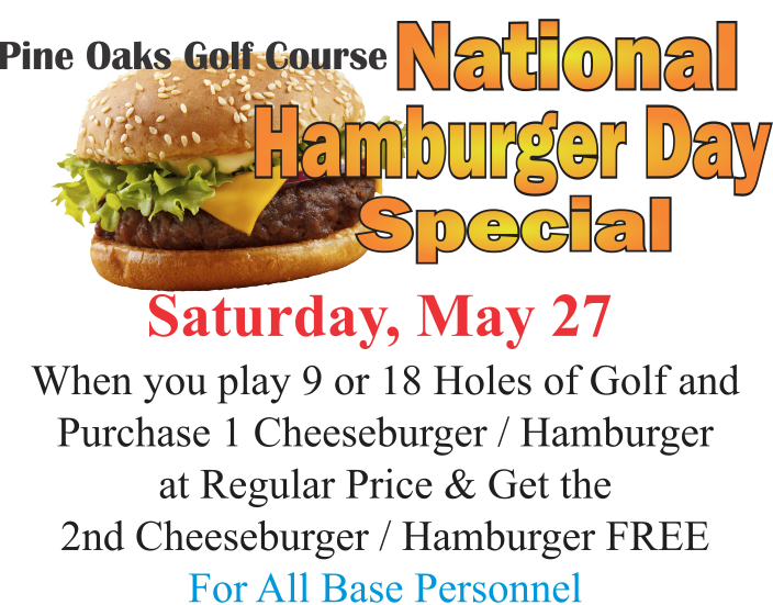 National Hamburger Day Special @ Golf Course