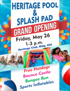 GRAND OPENING at the Heritage Pool