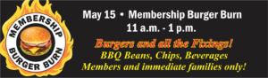 Membership Burger Burn at the Heritage Club