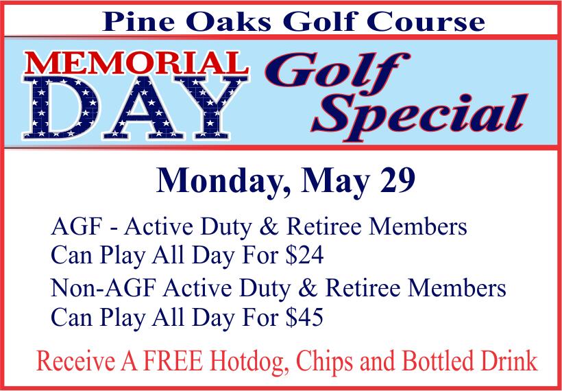 Memorial Day Golf Special @ Golf Course