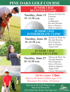 Pine Oaks Golf Course Clinic