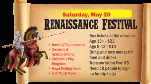 Renaissance Festival Youth Center Trip