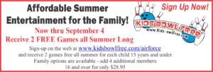 Kids Summer at the Bowling Center