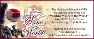 Tasting Wines of the World at the Heritage Club