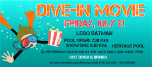 Dive-In Movie at the Heritage POOL