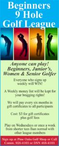 Beginners 9 Hole Golf League