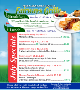 Fairways Grille July Special