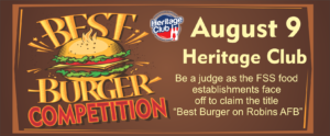 Heritage Club Burger Competition