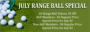 July Range Ball Special @ the Golf Course