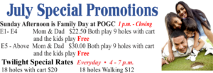 July Golf Special Promotions