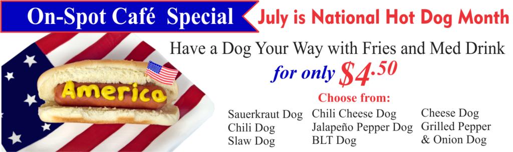 On-Spot Cafe July Special
