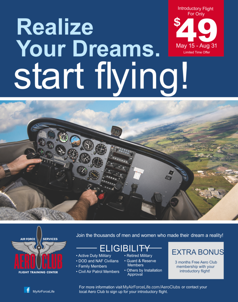 Realize Your Dreams, Start Flying! at the Aero Club
