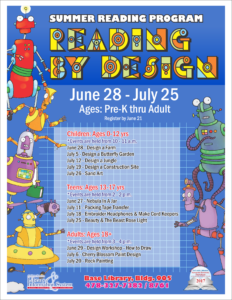 Summer Reading Program, Reading By Design