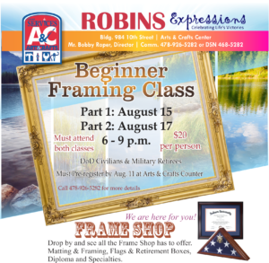 Beginners Framing Class at Arts&Crafts