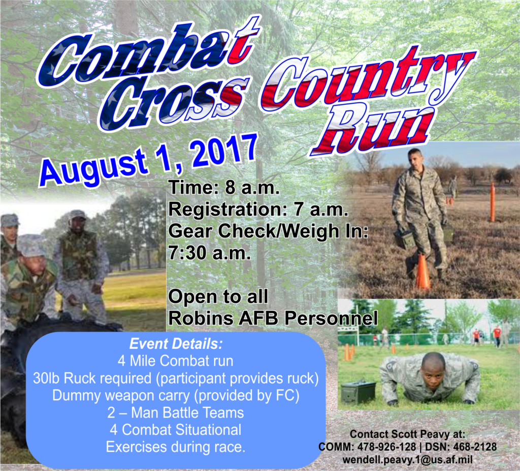Combat Cross Country Run August 1st