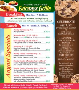 Fairways Grille August Specials
