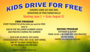 Kids Drive For Free at the Golf Course