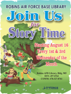 Story Time at the Base Library