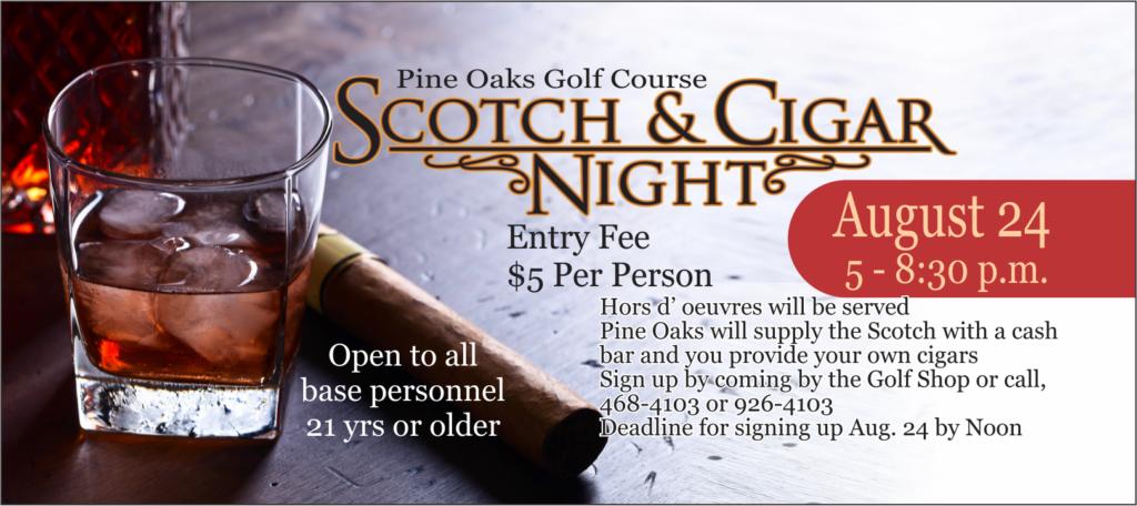 Scotch & Cigar Night at Pine Oaks Golf Course