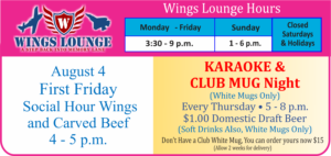Wings Lounge August Special
