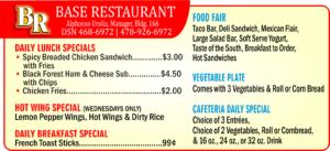 Base Restaurant August Special