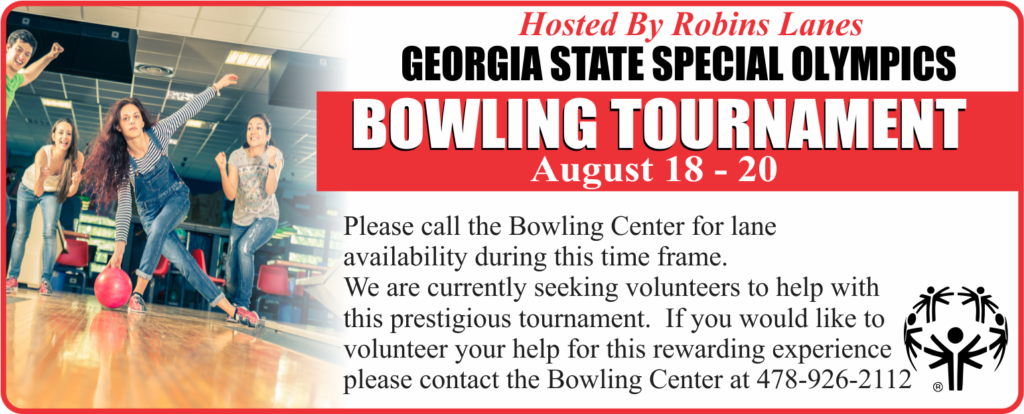 GA State Special Olympics, Hosted by Robins Lanes Bowling Center