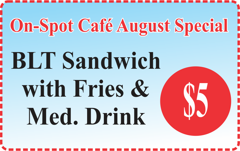 On-Spot Cafe August Special