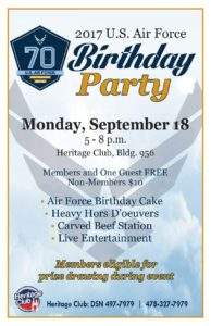 2017 USAF Birthday Party at the Heritage Club