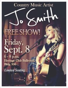 Jo Smith Country Music Artist Hosted By the Heritage Club